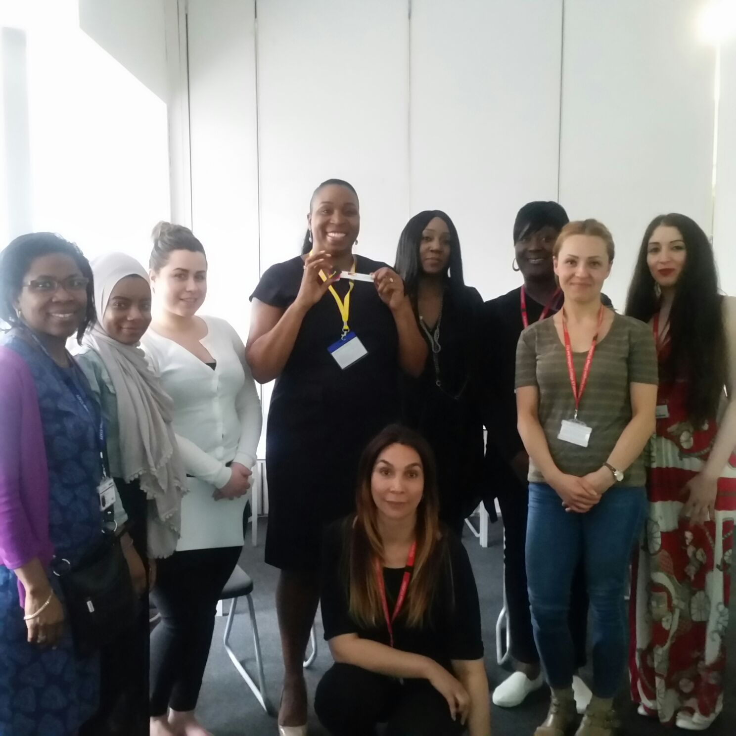 Level 4 Beauty Students and Janice Beckles from City and Islington College - Self Employment Event